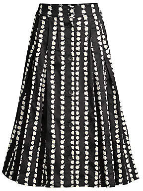 Maje Women's Daisy A-Line Midi Skirt