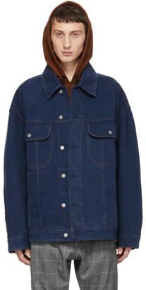 Acne Studios Bla Konst Blue Oversized Denim Jacket