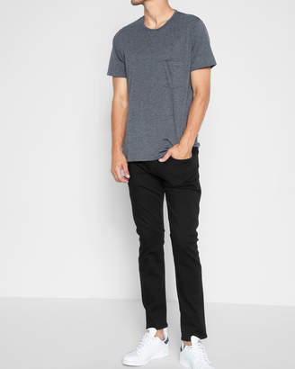 7 For All Mankind Luxe Sport Paxtyn Skinny with Clean Pocket in Black