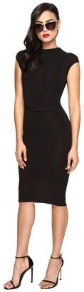 Unique Vintage Soft Knit Fitted Pencil Dress Women's Dress