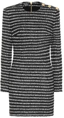 Balmain Striped tweed minidress