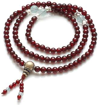 R & E Embellishment Multilayere Garnet bracelet re wine/108 heart beas Crystal bracelets