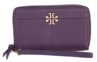 Tory Burch Tory Burch Pebbled Leather Logo Wallet