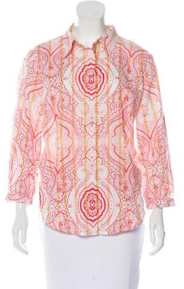 Robert Graham Printed Long Sleeve Top $70 thestylecure.com