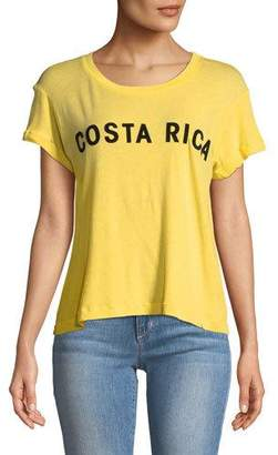 Wildfox Couture Costa Rica Graphic Cotton Tee