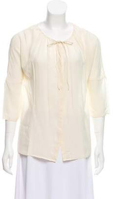 Calypso Silk Three-Quarter Sleeve Blouse