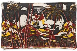Prada all-over print clutch