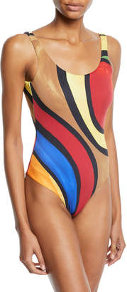 Onia Kelly Colorblock One-Piece Swimsuit