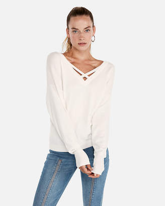 Express Double Vee Pullover Sweater