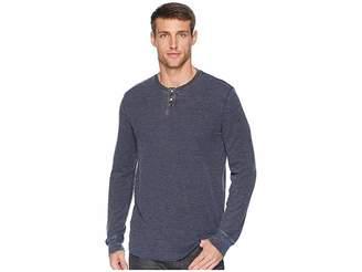 Lucky Brand Burnout Thermal Snap Notch Neck Shirt