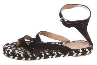 Proenza Schouler Suede Crossover Sandals