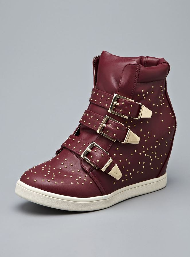 Wanted Gramercy High Top Embellished Buckle Sneaker