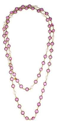 Chanel Pearl & Crystal Sautoir Necklace