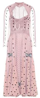 Temperley London Storm embroidered midi dress