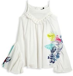 Catimini Toddler's & Little Girl's Leaf-Printed Crepe Voile Dress $118 thestylecure.com