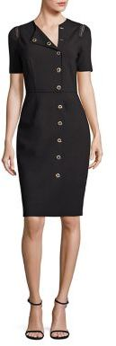 Elie Tahari Tarina Toggle Sheath Dress $398 thestylecure.com