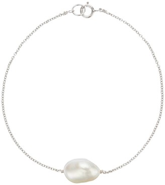 Lily & Roo Sterling Silver Large single Pearl Bracelet