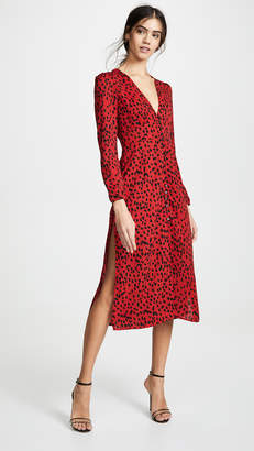 Rahi Red Leopard Scarlett Dress