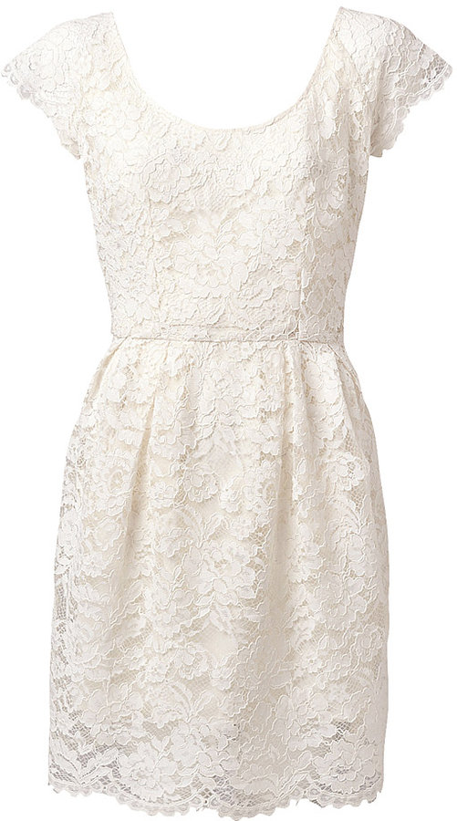 Witchery Scoop Neck Lace Dress