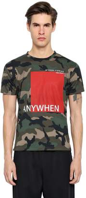 Valentino Anywhen Print Camo Cotton Jersey T-Shirt