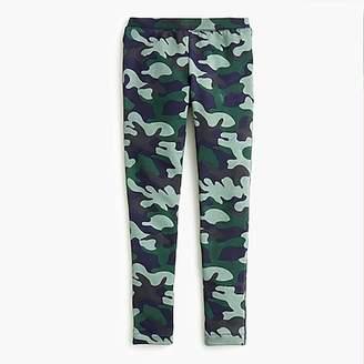 J.Crew Girls' cozy everyday leggings in camo