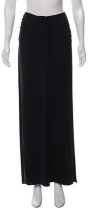 Giorgio Armani Ruched Maxi Skirt Black Ruched Maxi Skirt