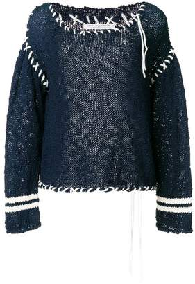 Philosophy di Lorenzo Serafini contrast stitch sweater
