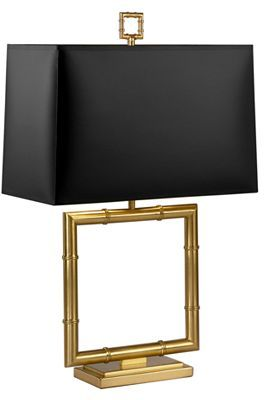 Jonathan Adler Meurice Square Table Lamp with Black Shade