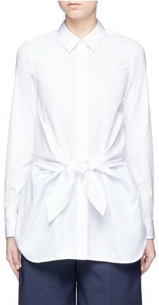 3.1 Phillip Lim3.1 Phillip Lim Knot waist cotton poplin shirt