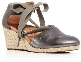 Vionic Women's Kaitlin Ankle-Tie Wedge Espadrille Sandals