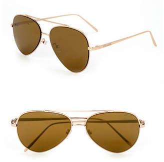 Steve Madden 60mm Aviator Sunglasses