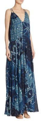Polo Ralph Lauren Printed Silk Georgette Maxi Dress $398 thestylecure.com