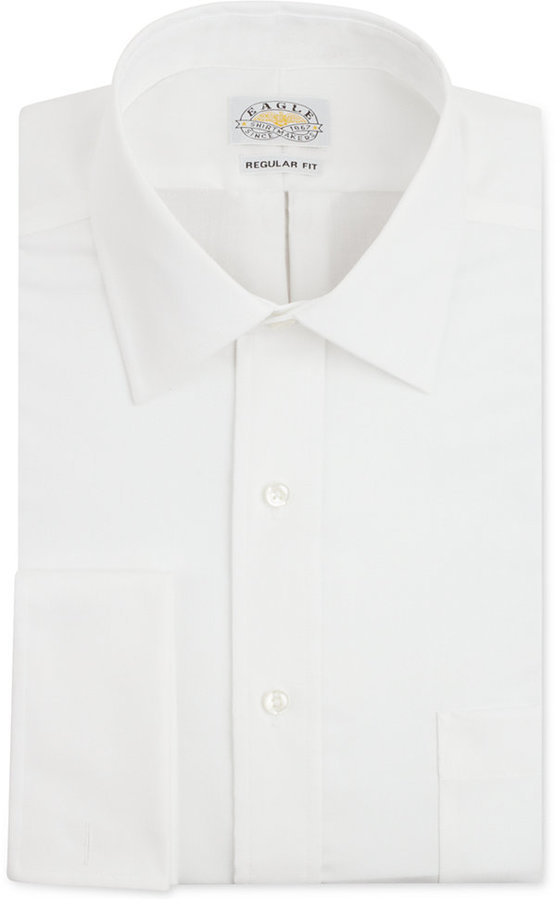 Eagle Non-Iron White French Cuff Shirt