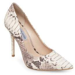 92a8fe36ad5 Steve Madden Daise Snake Print Stiletto Pumps