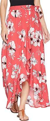 Jack by BB Dakota Junior's Kaliyah Floral Printed Wrap Skirt