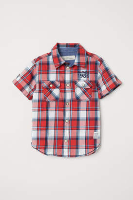 H&M Short-sleeved Shirt - Red