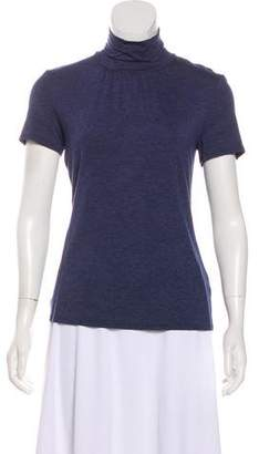 Trina Turk Mock Neck Short Sleeve Top