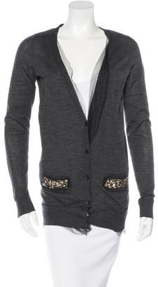 Vera Wang Embellished Wool Cardigan $85 thestylecure.com