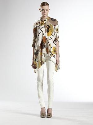 Gucci Oshibana Print Cape Shirt