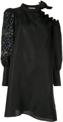 Dice Kayek contrast off-shoulder midi dress