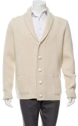 Maison Margiela Wool Shawl Collar Cardigan