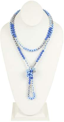 Riah Fashion Multi-Tone Glass-Beads-Necklace