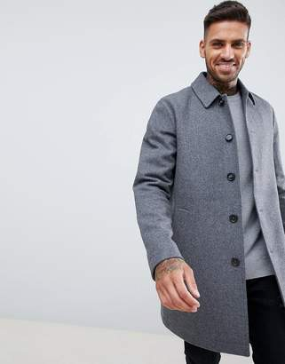 Asos Design DESIGN wool mix trench coat in light grey