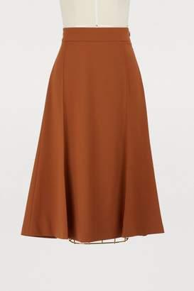 Chloé Wool midi skirt