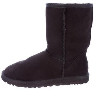 UGG Australia Fur Classic Short Ankle Boots $115 thestylecure.com