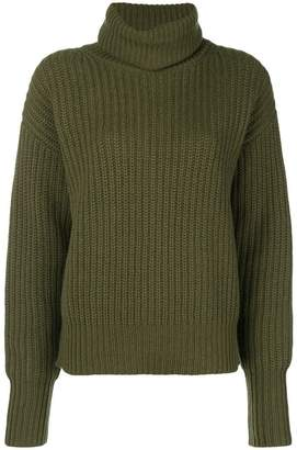 Joseph cable knit roll-neck sweater