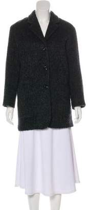 Agnona Mohair Notch-Lapel Coat
