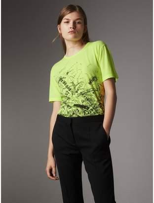 Burberry Doodle Print Cotton T-shirt