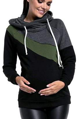 Vepodrau Womens Hooded Sweatshirt Nursing Breastfeeding Maternity Sweatshirts M