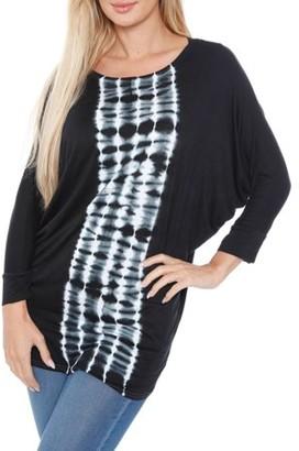 ONLINE Women's Banded Dolman Tie Dye Stripe Top